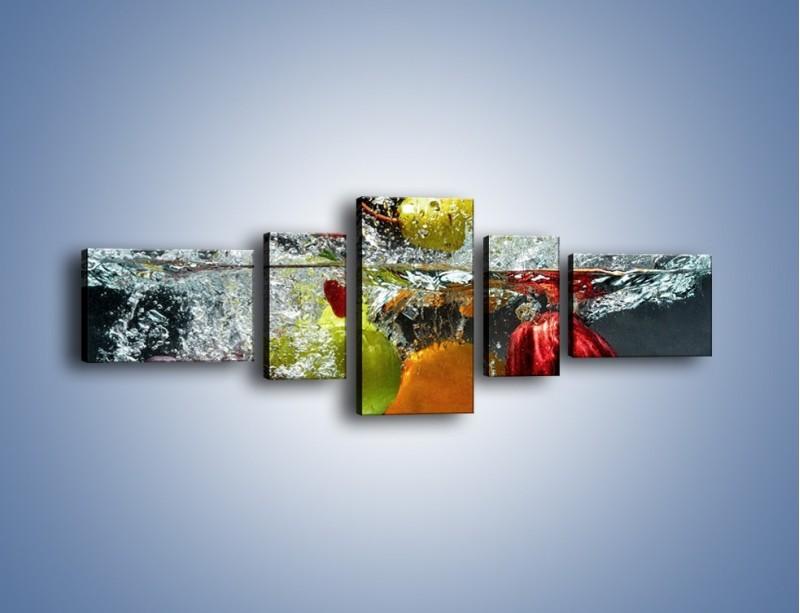 Obraz na płótnie – Głębokie owocowe zanurzenie – pięcioczęściowy JN253W6