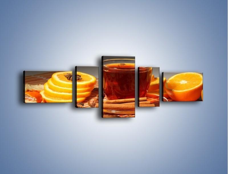 Obraz na płótnie – Imbirowo-pomarańczowe rozluźnienie – pięcioczęściowy JN260W6