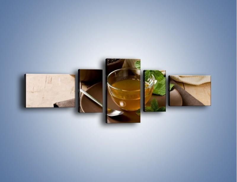 Obraz na płótnie – Filiżanka herbaty na poprawę humoru – pięcioczęściowy JN264W6