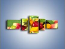 Obraz na płótnie – Arbuzowa misa z owocami – pięcioczęściowy JN274W6