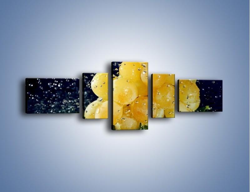 Obraz na płótnie – Słodkie winogrona z miętą – pięcioczęściowy JN286W6