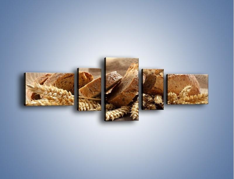 Obraz na płótnie – Świeży pszenny chleb – pięcioczęściowy JN287W6