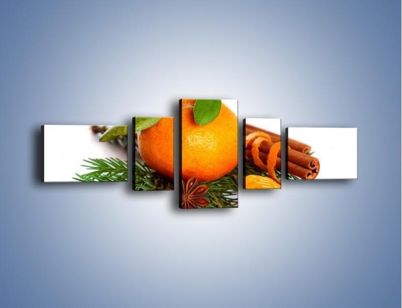Obraz na płótnie – Pomarańcza na święta – pięcioczęściowy JN306W6