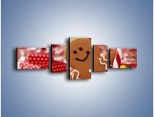 Obraz na płótnie – Ciasteczkowy ulubieniec dzieci – pięcioczęściowy JN308W6
