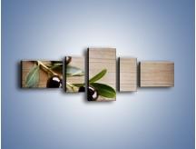 Obraz na płótnie – Dojrzała gałązka oliwek – pięcioczęściowy JN334W6