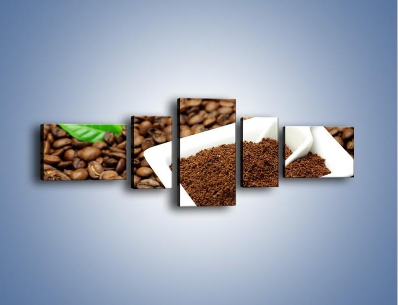 Obraz na płótnie – Zmielona kawa – pięcioczęściowy JN340W6