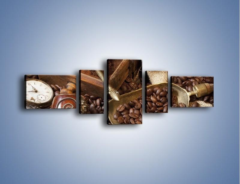 Obraz na płótnie – Szuflada pełna kawy – pięcioczęściowy JN356W6