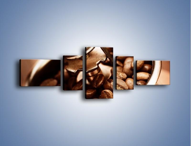 Obraz na płótnie – Kawa w młynku – pięcioczęściowy JN361W6
