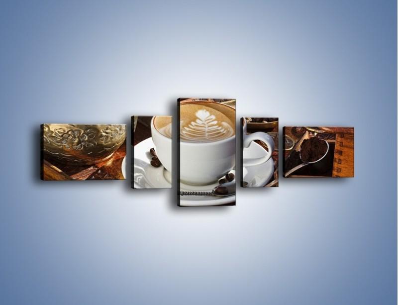 Obraz na płótnie – Wspomnienie przy kawie – pięcioczęściowy JN377W6