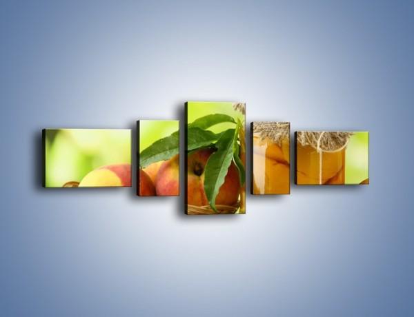 Obraz na płótnie – Jabłka w syropie – pięcioczęściowy JN391W6