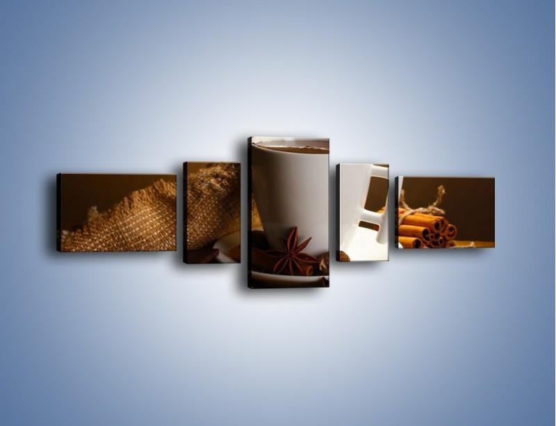 Obraz na płótnie – Gorąca czekolada z dodatkami – pięcioczęściowy JN452W6