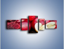 Obraz na płótnie – Czerwone jabłka późną jesienią – pięcioczęściowy JN619W6