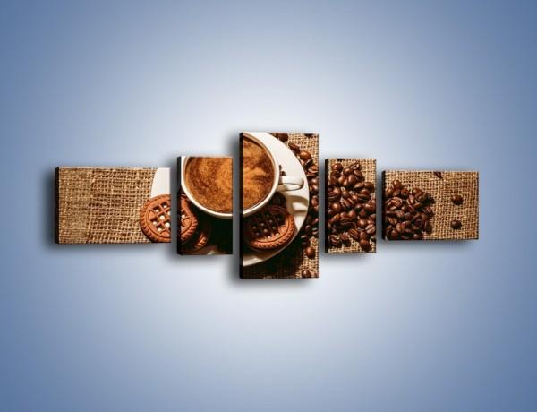 Obraz na płótnie – Kawowe słodkości na deser – pięcioczęściowy JN676W6