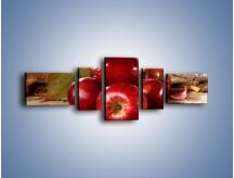 Obraz na płótnie – Dojrzałe jabłka porą jesienną – pięcioczęściowy JN741W6