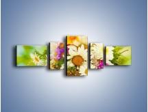 Obraz na płótnie – Bukiecik dla małej ogrodniczki – pięcioczęściowy K369W6