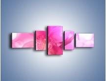Obraz na płótnie – Budzący dzień w różowym kwiecie – pięcioczęściowy K487W6