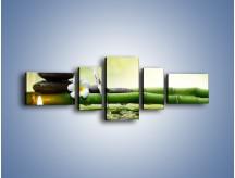 Obraz na płótnie – Bambus i źródło wody – pięcioczęściowy K930W6