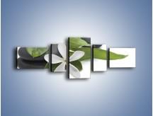 Obraz na płótnie – Artystyczna kompozycja z kwiatem – pięcioczęściowy K968W6