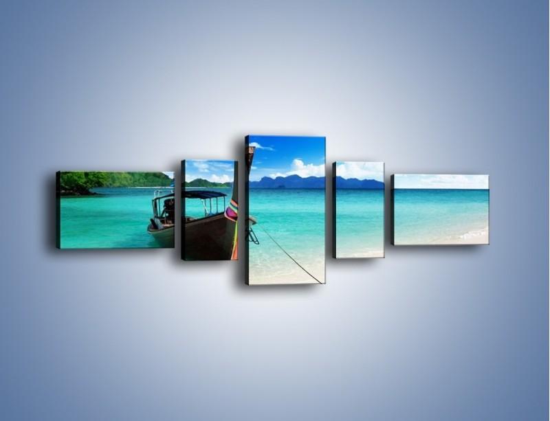 Obraz na płótnie – Wodny transport w tajlandii – pięcioczęściowy KN083W6