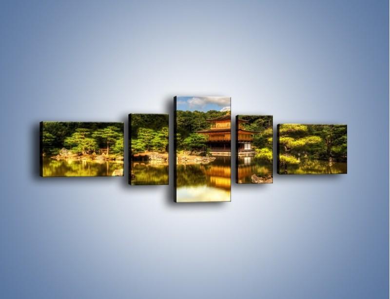Obraz na płótnie – Widok z domu na wodę – pięcioczęściowy KN1030W6