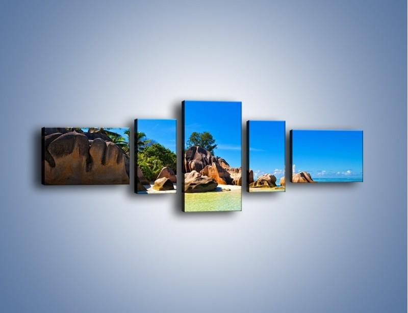 Obraz na płótnie – Bezludna wyspa i ja – pięcioczęściowy KN1058W6