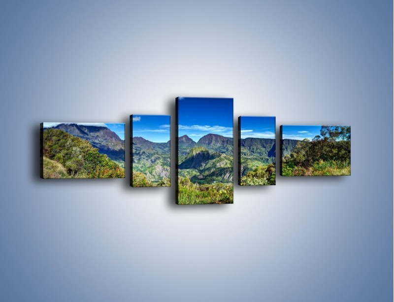 Obraz na płótnie – Zieleń ukryta wysoko w górach – pięcioczęściowy KN1106W6