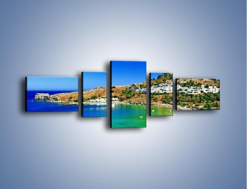 Obraz na płótnie – Kurorty nad spokojnym morzem – pięcioczęściowy KN1145AW6