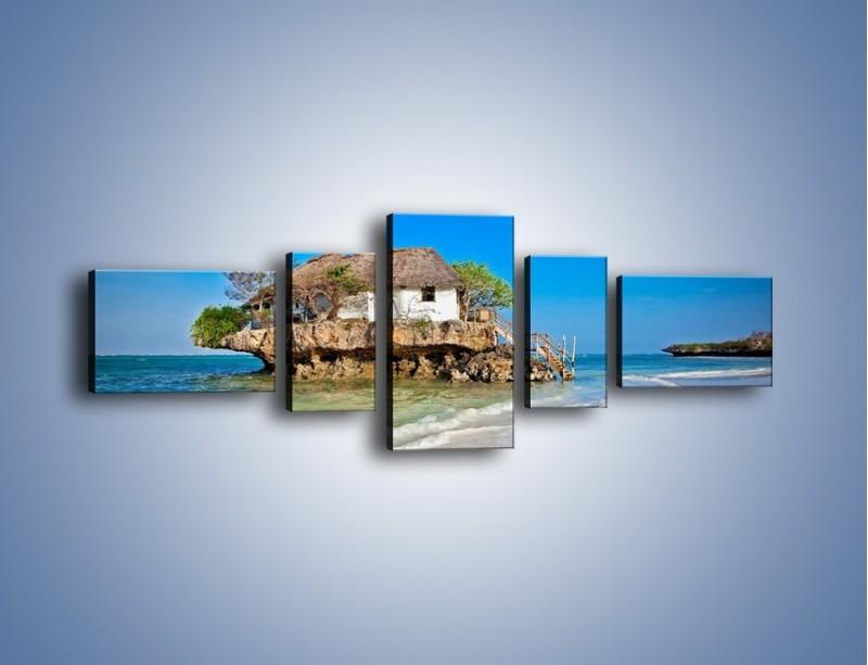 Obraz na płótnie – Dom na skarpie – pięcioczęściowy KN1150AW6