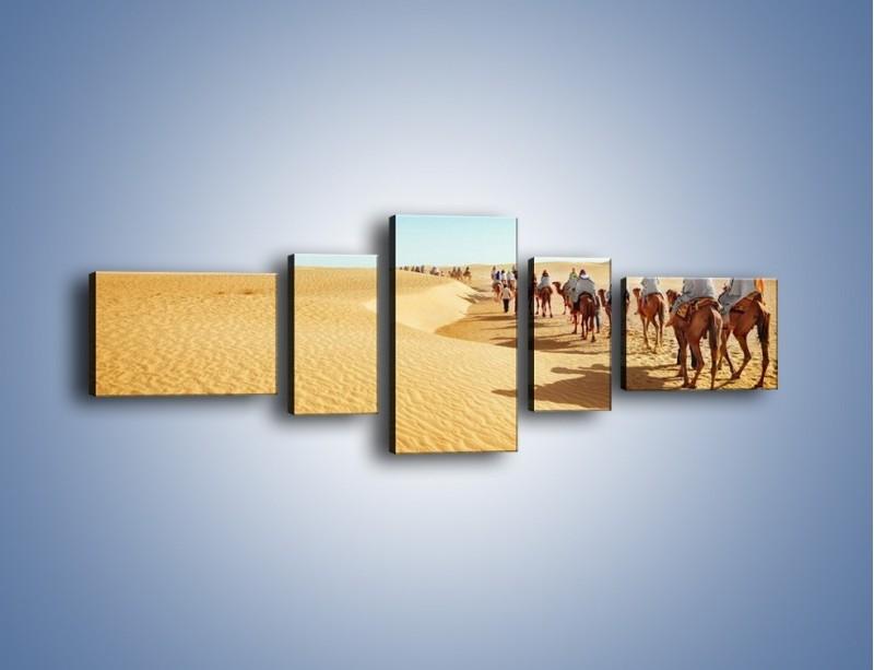Obraz na płótnie – Szła karawana przez pustynię – pięcioczęściowy KN1173AW6