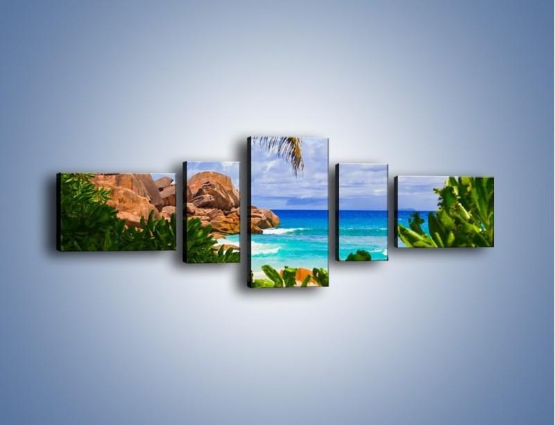 Obraz na płótnie – Urlop pod palmami – pięcioczęściowy KN1191AW6