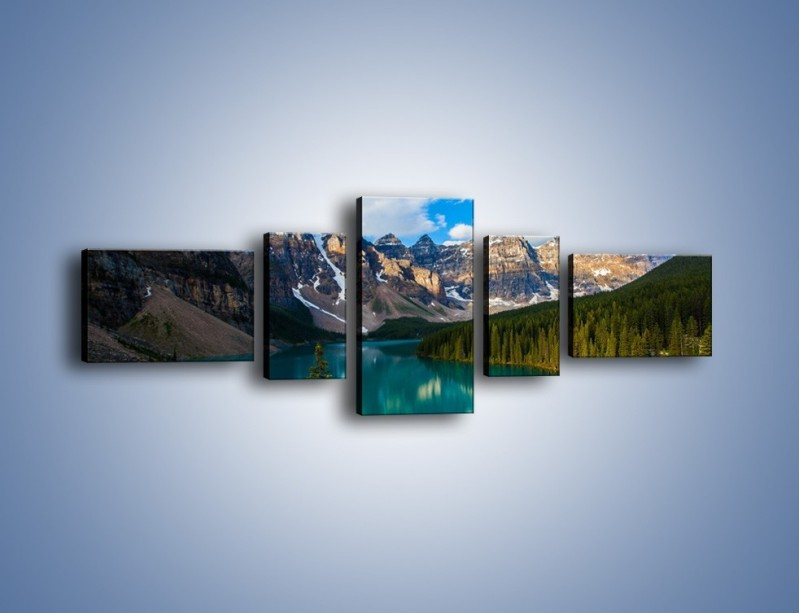 Obraz na płótnie – Spokój w górach – pięcioczęściowy KN1258AW6