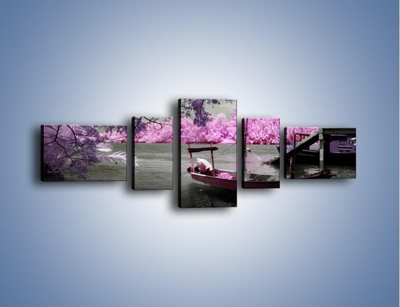 Obraz na płótnie – Krajobraz jak z japonii – pięcioczęściowy KN1277AW6