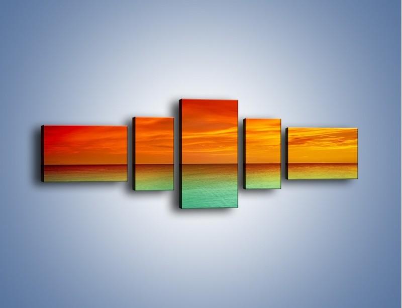 Obraz na płótnie – Horyzont w kolorach tęczy – pięcioczęściowy KN1303AW6