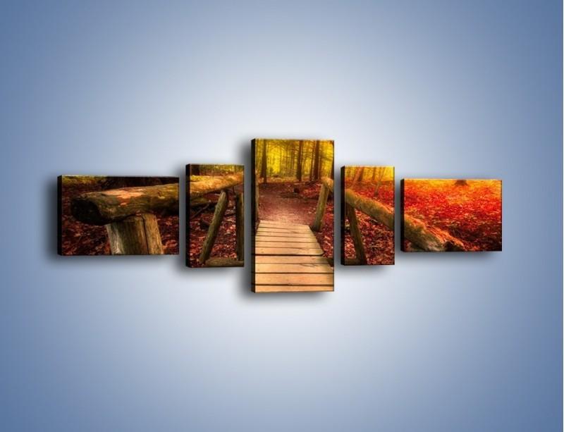 Obraz na płótnie – Krótkie przejście przez las – pięcioczęściowy KN1330AW6