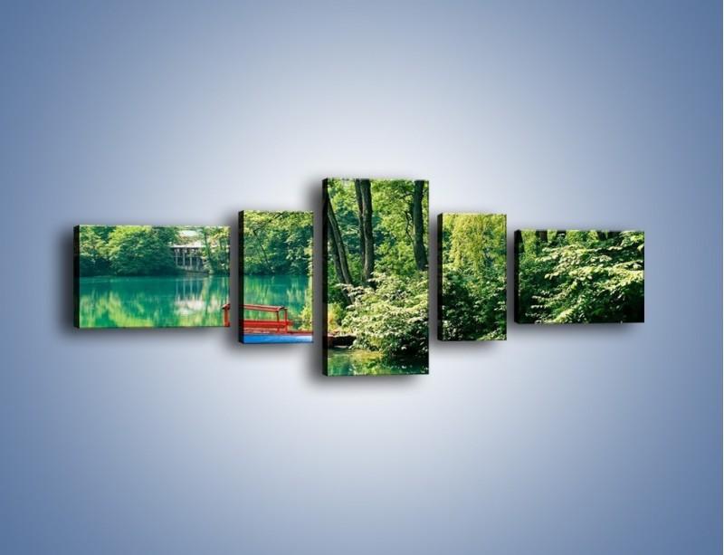 Obraz na płótnie – Wakacje nad jeziorem – pięcioczęściowy KN155W6