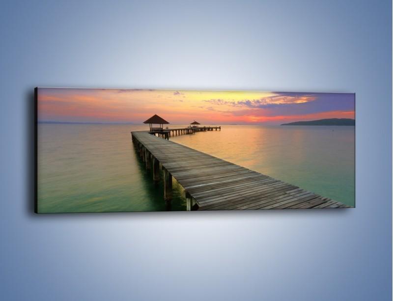 Obraz na płótnie – Krętym pomostem do morza – jednoczęściowy panoramiczny KN327