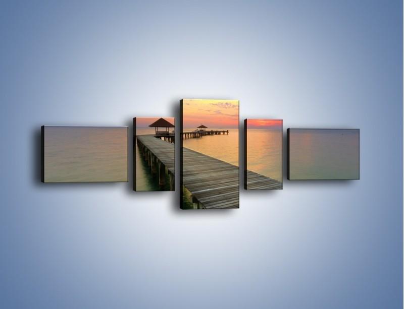 Obraz na płótnie – Krętym pomostem do morza – pięcioczęściowy KN327W6
