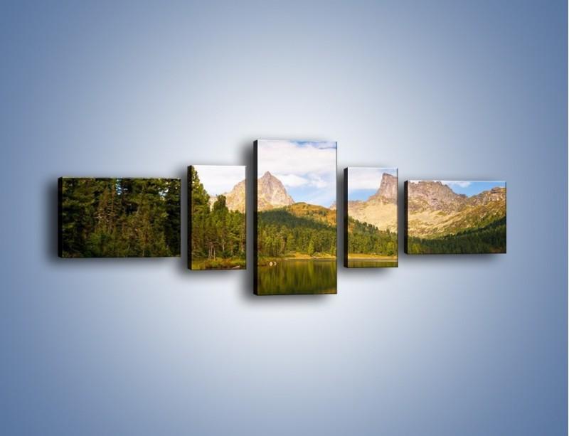 Obraz na płótnie – Widok nie tylko na góry – pięcioczęściowy KN401W6