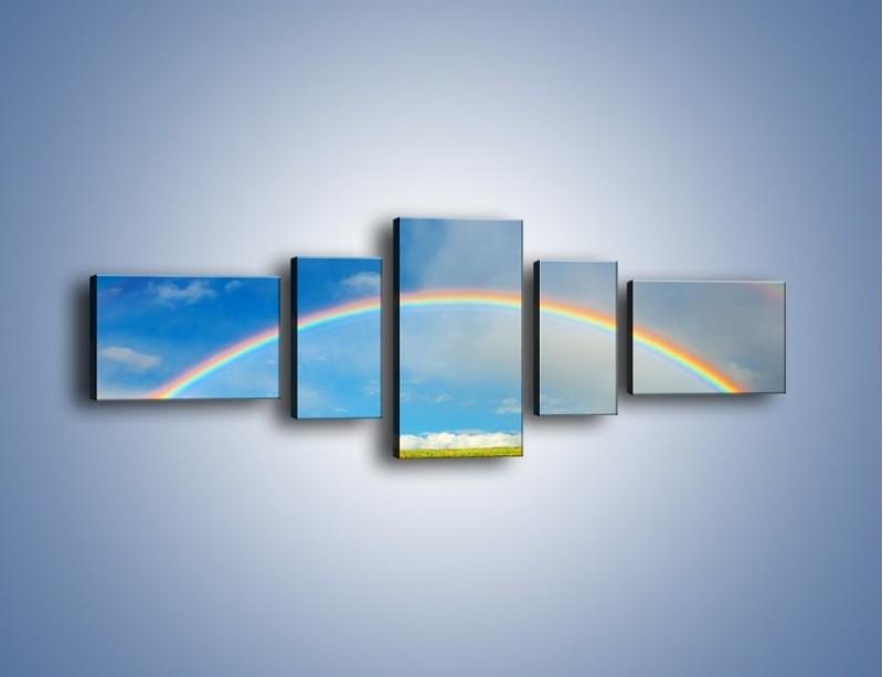Obraz na płótnie – Urok kolorowej tęczy – pięcioczęściowy KN406W6