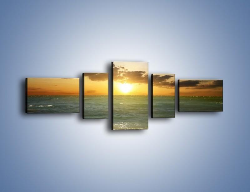 Obraz na płótnie – Kamienisty brzeg i jego spokój – pięcioczęściowy KN482W6