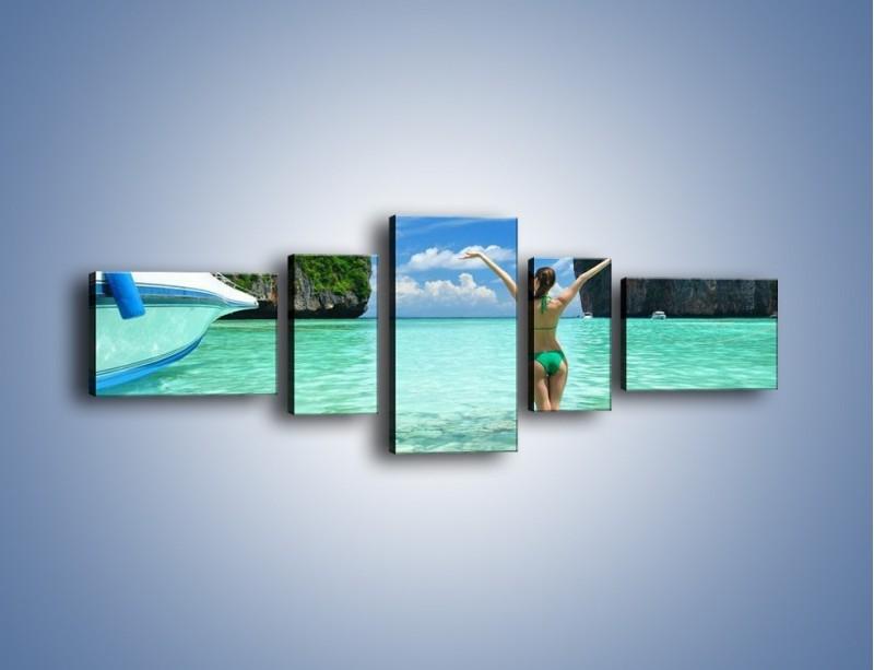 Obraz na płótnie – Udane wakacje w ciepłych krajach – pięcioczęściowy KN530W6