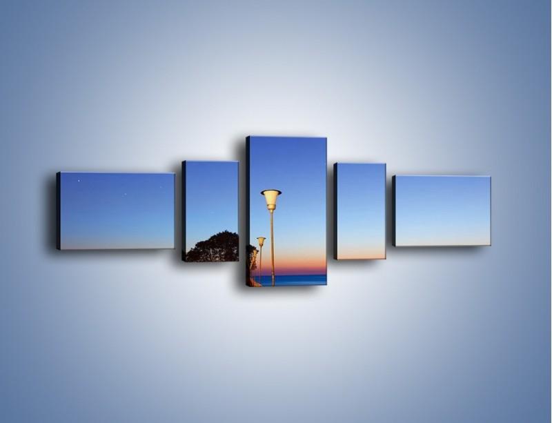 Obraz na płótnie – Wieczorny spacer po tafli morza – pięcioczęściowy KN759W6