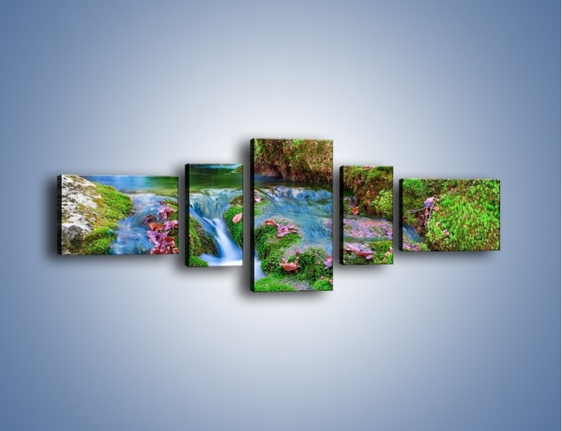 Obraz na płótnie – Bajkowy pejzaż – pięcioczęściowy KN841W6