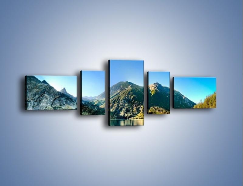 Obraz na płótnie – Chłodny klimat górski – pięcioczęściowy KN844W6