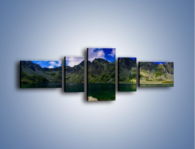 Obraz na płótnie – Horyzont górskich szczytów – pięcioczęściowy KN856W6