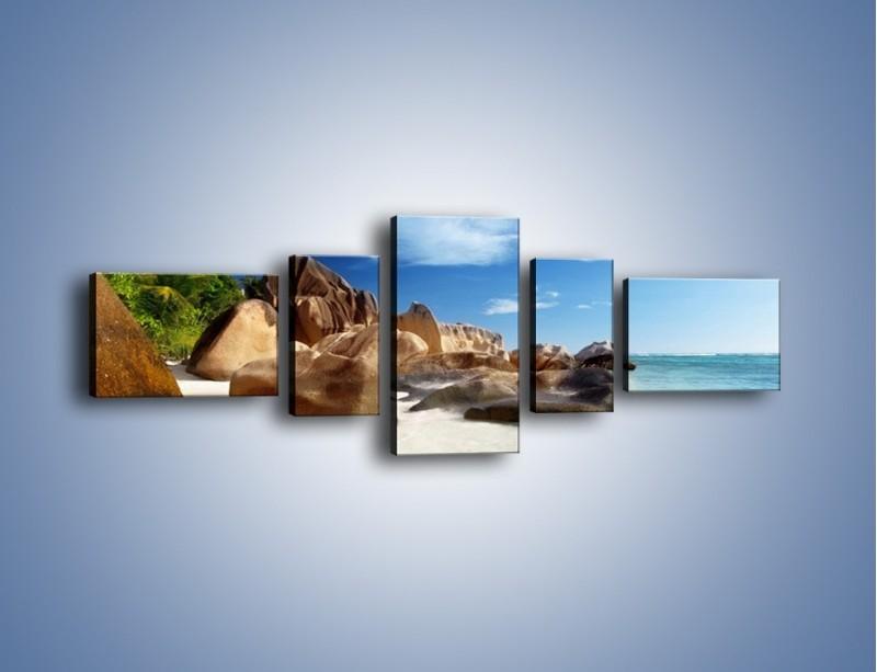 Obraz na płótnie – Niewyobrażalny błękit oceanu – pięcioczęściowy KN986W6