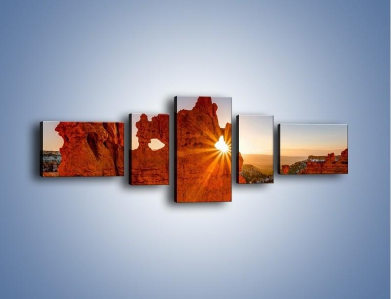 Obraz na płótnie – Przez słoneczne okulary – pięcioczęściowy KN991W6