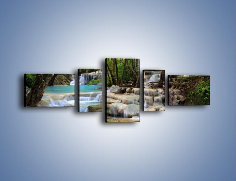 Obraz na płótnie – Mokrym krokiem na górę – pięcioczęściowy KN993W6