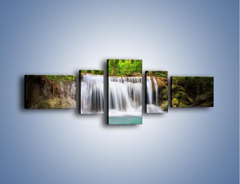 Obraz na płótnie – Kąpiel w środku lasu – pięcioczęściowy KN995W6