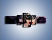 Obraz na płótnie – Dziewczyna w czarnej masce – pięcioczęściowy L030W6